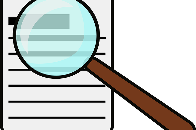 A magnifying glass on a document to signify everything that you need to check in order to avoid failing a home inspection.