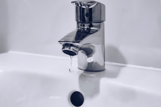 A dripping faucet.